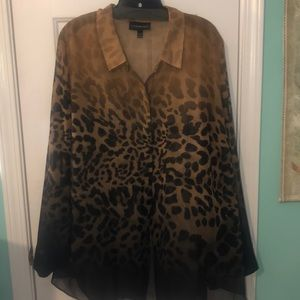 Animal print Lane Bryant blouse